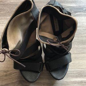 Zara safari style platform bootie sandals